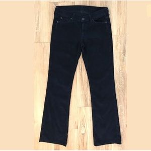 7 For All Mankind Womens 27 BootCut Corduroy Pants